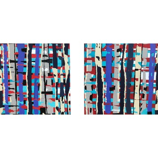 Contemporary Original Diptych Painting For Sale