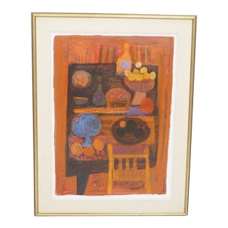 Vintage Mid-Century Judith Bledsoe Still Life Painting For Sale