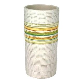 1960s Italian Mid-Century Modern Aldo Londi for Bitossi Pottery Vase for Raymor Import For Sale