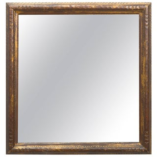 1940s Chunky Giltwood Framed Mirror For Sale