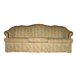 Vintage Camel Back Sofa For Sale