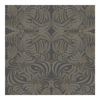 Mitchell Black Home Goldenrod Flora Wallpaper Remnant For Sale