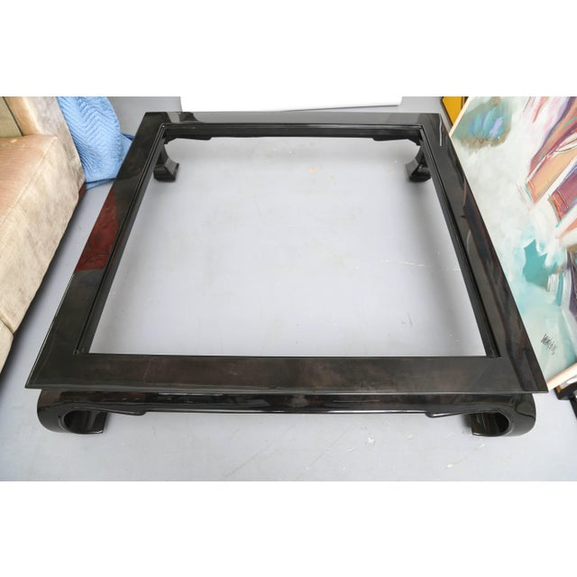 Monumental Goatskin Coffee Table Karl Springer Style 1960s, Usa For Sale In Miami - Image 6 of 8