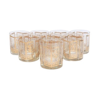 Gilt Lowball Glasses - Set of 8