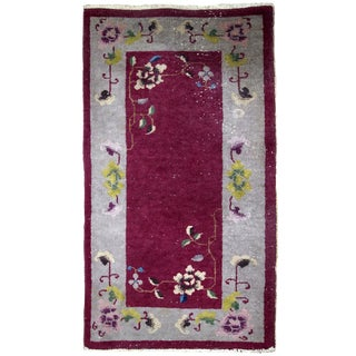 1920s, Handmade Antique Art Deco Chinese Rug 2.1' X 3.11' - 1b700 For Sale
