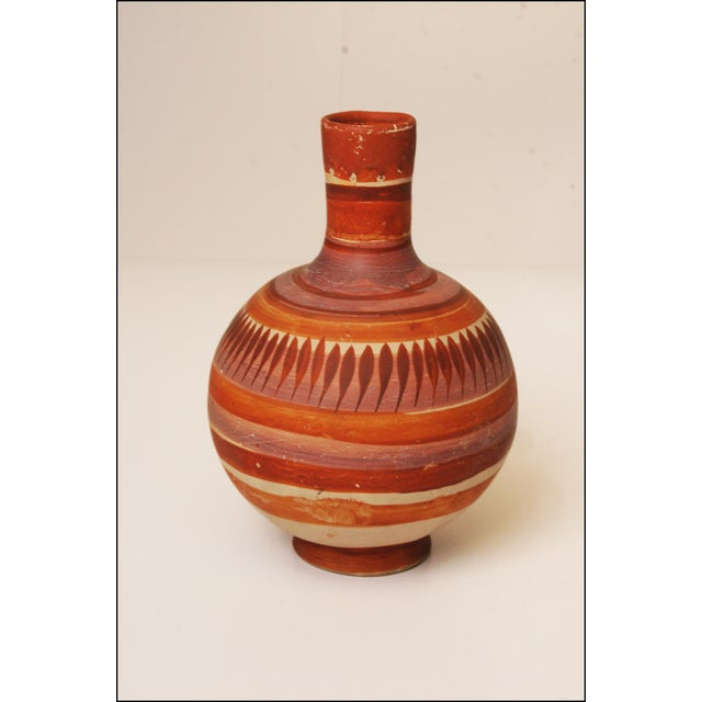 Vintage Native American Brown Art Pottery Vase - Image 4 of 11