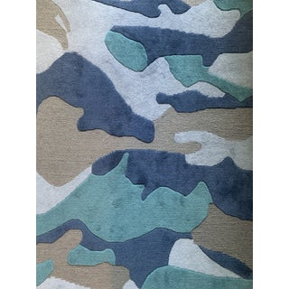 Camo 5' x 8' Rug - Blue For Sale
