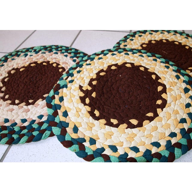 Antique American Braided Seat Covers - Set of 3 For Sale In New York - Image 6 of 8