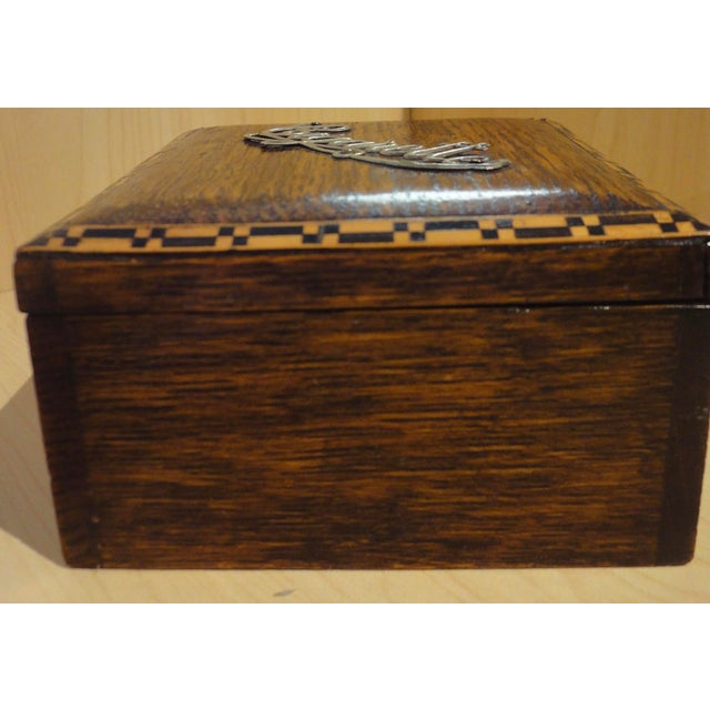 Antique French Wooden Cigarette Box - Image 3 of 4