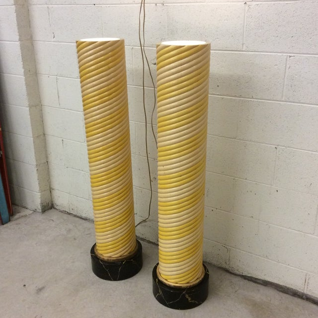 Hollywood Regency Hollywood Deco Column Torcheres - a Pair For Sale - Image 3 of 13