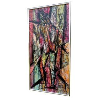 Mid-Century Abstract Painting By Magnus Engstrom For Sale