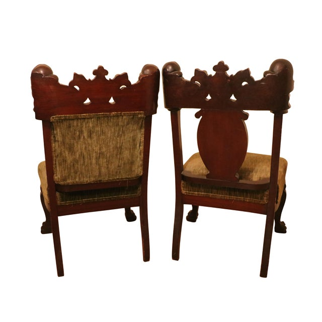 Fabric Antique Late 19th. C Karpen Settee & Side Chairs - the Maiden Suite Set of 3 For Sale - Image 7 of 9