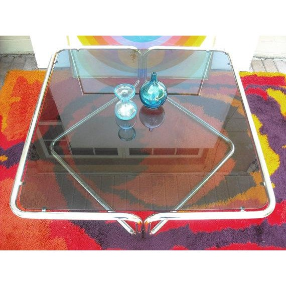 Mid Century Coffee Table Chrome Jerry Johnson - Image 5 of 5