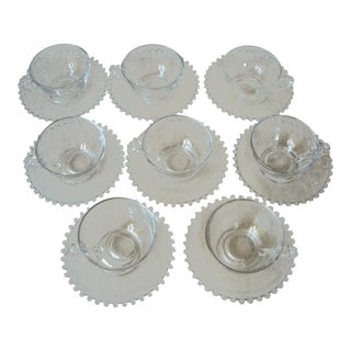 Imperial Candlewick Cups & Saucers - Set of 8 For Sale