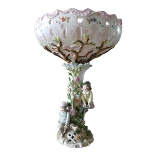 Oversize Antique Italian Capidimonte Statement Centerpiece