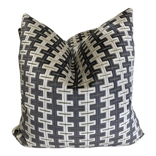 "Fabricut ""Timbre Zinc"" 22""Pillows-A Pair For Sale"