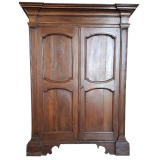 17th Century Italian Louis XIV Walnut Wardrobe For Sale