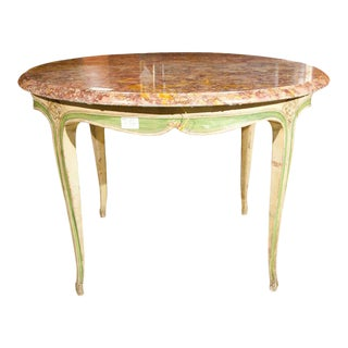 French Marble Top Center Table For Sale