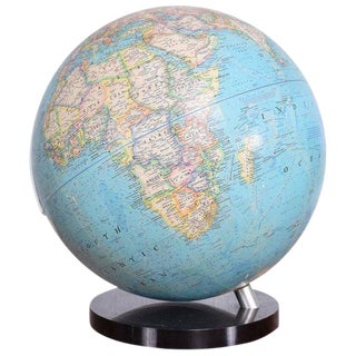 Modernist World Globe by National Geographic For Sale