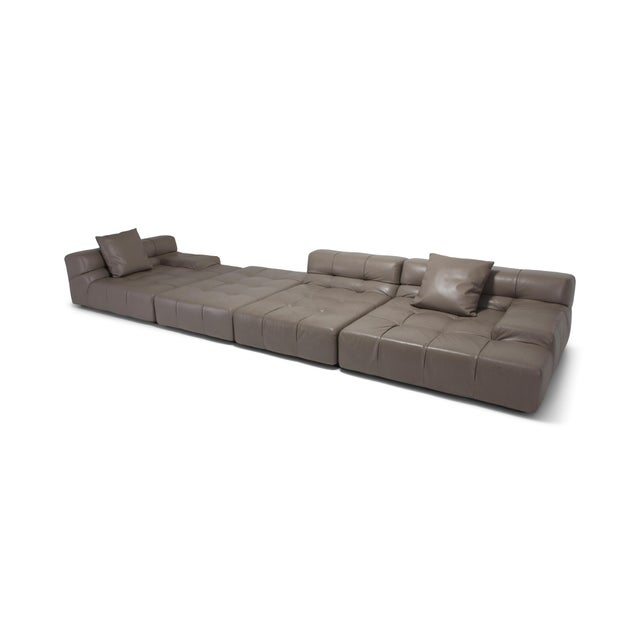 Tufty Time B&b Italia Taupe Leather Sectional Sofa by Patricia Urquiola For Sale - Image 11 of 11