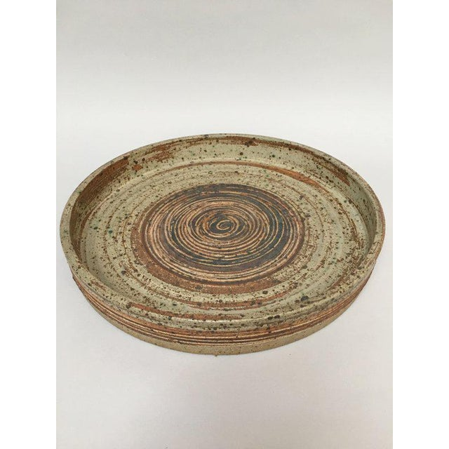 Contemporary Tue Poulsen Danish Modern Large Stoneware Studio Pottery Tray For Sale - Image 3 of 10