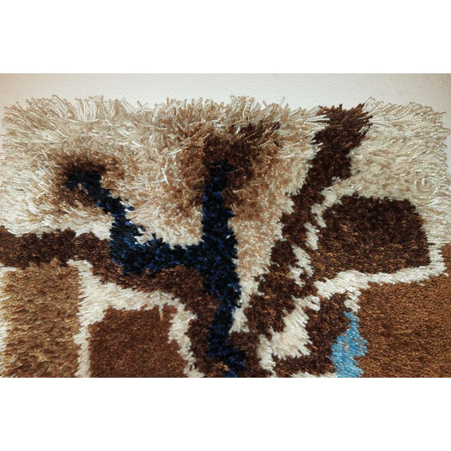 1960s Vintage Mid-Century Mod Abstract Tree Rya Rug Wall Hanging For Sale - Image 5 of 7