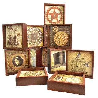 Steampunk Drink Coasters - Set of 12 For Sale