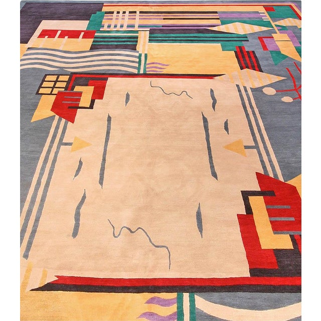 Art Deco Deco Inspired Tibetan Rug- 18'3'' X 11' Ft For Sale - Image 3 of 7