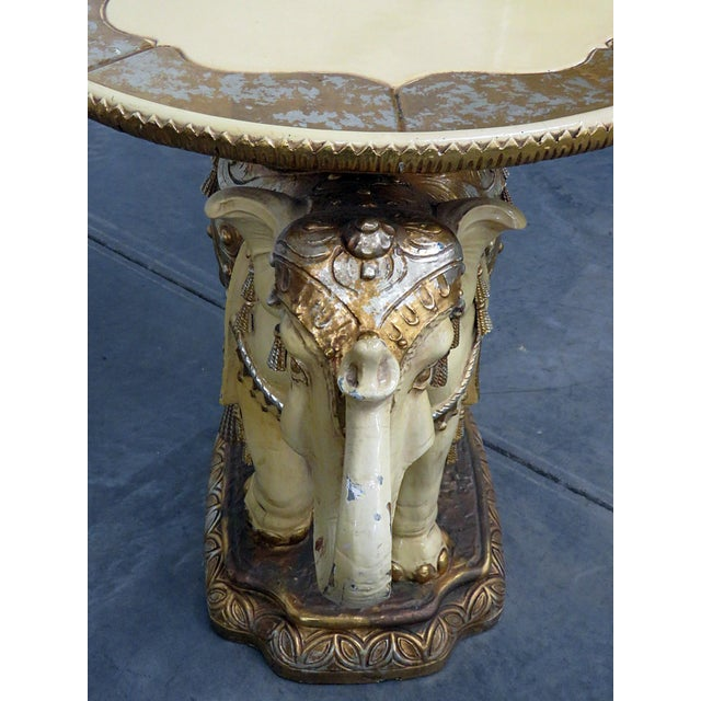 Indian Elephant Center Table For Sale - Image 9 of 11