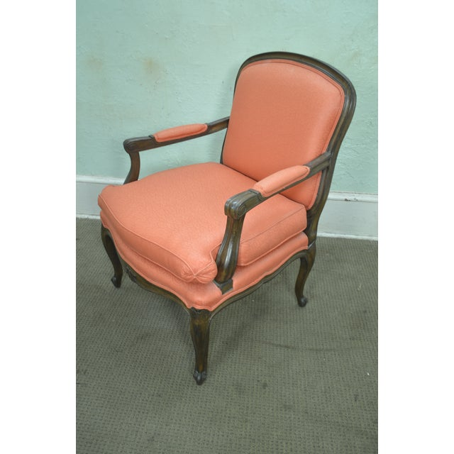 Beech French Louis XV Style Custom Quality Pair of Fauteuils Arm Chairs For Sale - Image 7 of 13