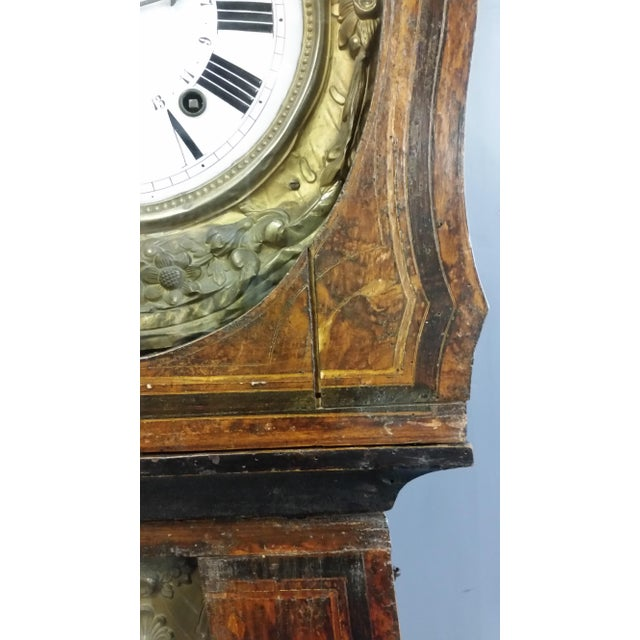 Antique 19th Century French Grandfather Clock (Morbier) For Sale - Image 11 of 13