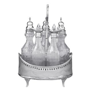 Hester Bateman Georgian Silver Cruet Set For Sale