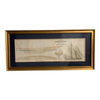 """The German Emperor's Schooner Yacht """"Meteor"""" 412 Tons Artwork For Sale"""