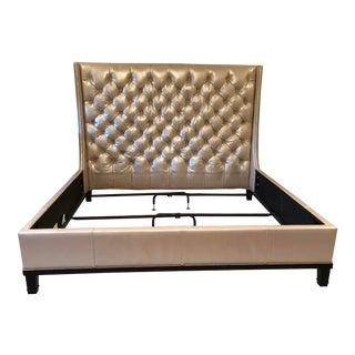 Custom Tufted Leather Bedframe
