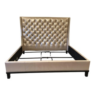 Michael Weiss Tufted Leather Bedframe