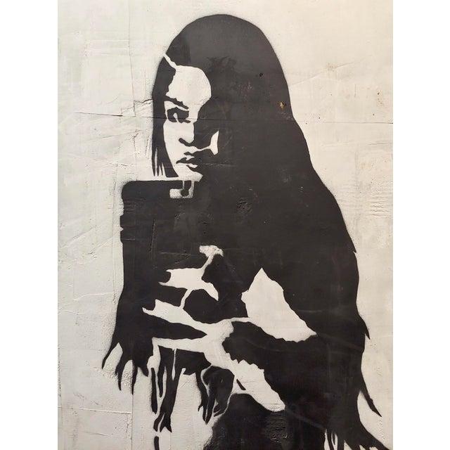 "2010s Thrashbird Art ""Kim Kardashian Taking a Selfie"" Mix Media Painting For Sale - Image 5 of 10"