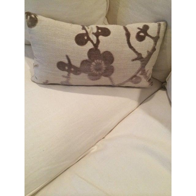 Lee Jofa Floral Flocking Pillow - Image 2 of 3