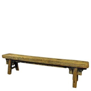 19th Century Asian Antique Long Dongbei Bench