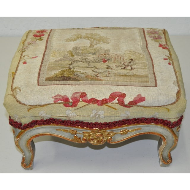 French Rococo Footstool 19th C. - Image 2 of 7