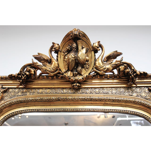 Federal French Federal Gold Gilt Mirror For Sale - Image 3 of 7