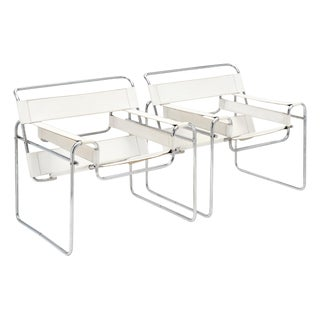 Armchairs in the Manner of Marcel Breuer's Wassily Design - a Pair For Sale