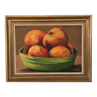 Bowl of Fruit Still Life Oil Painting For Sale