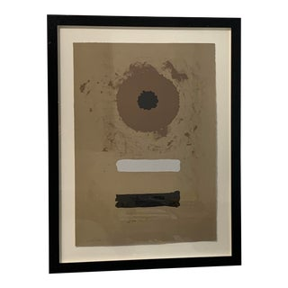 1969 Abstract Expressionist Pencil Signed Adolph Gottlieb Lithograph For Sale