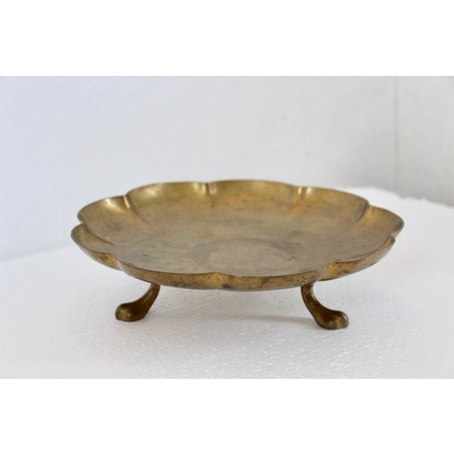 Brass Paw-Foot Scalloped Tray - Image 2 of 5