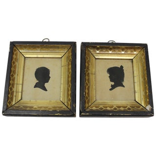 Pair of Antique Silhouette Miniatures For Sale