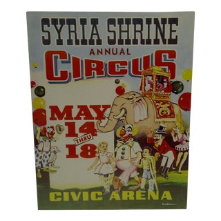 Syria Shrine Annual Circus Poster For Sale