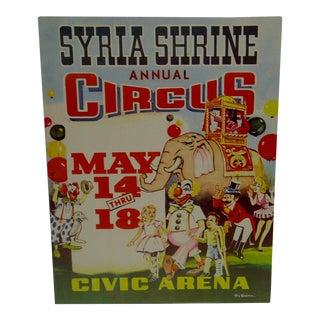 Syria Shrine Annual Circus Poster