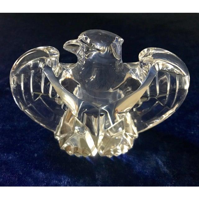 Vintage Lloyd Atkins for Steuben Crystal Eagle Figurine For Sale - Image 9 of 9
