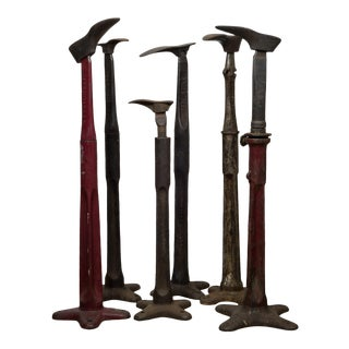 19th C. Antique Cast Iron Cobbler Stands C.1890 For Sale