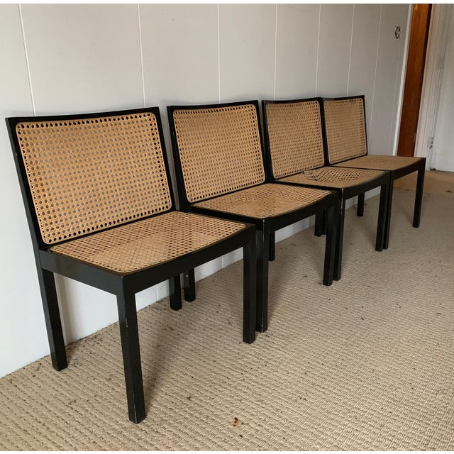 Willy Guhl Stendig Black Lacquer Dining Chairs - Set of 4 For Sale - Image 9 of 9